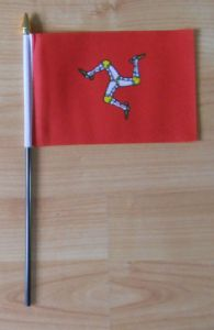 Isle Of Man Hand Flag - Small.